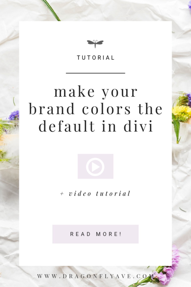 add your brand colors in your divi site