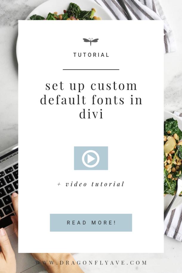 Set up custom default fonts in DIVI