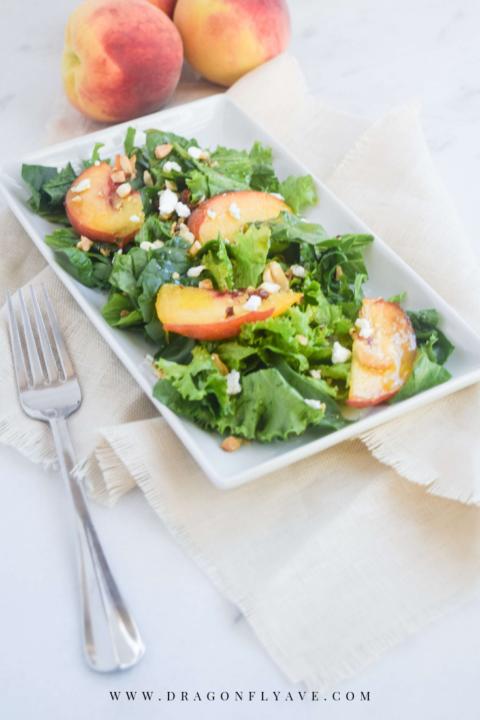 peach summer salad