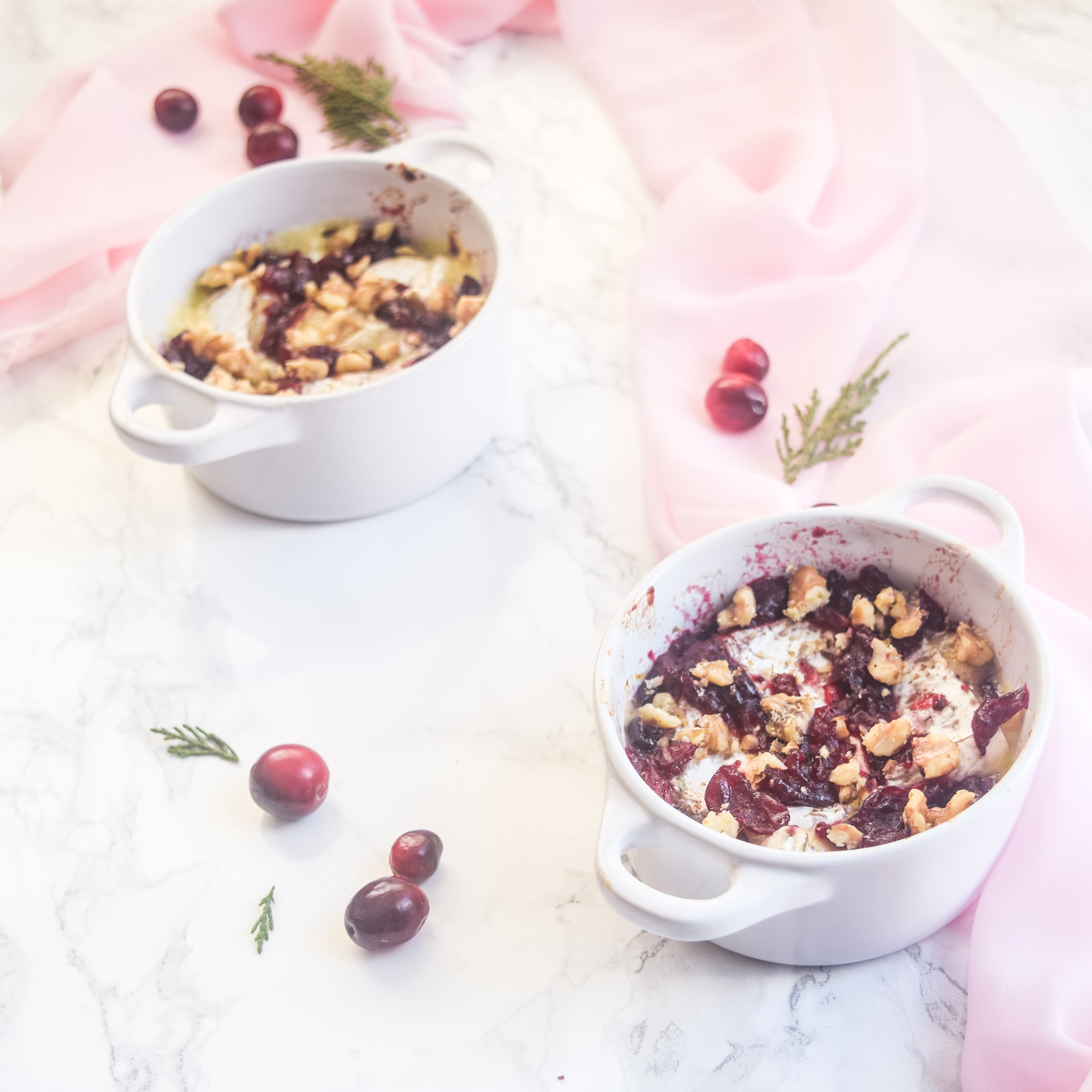cranberry walnut baked brie