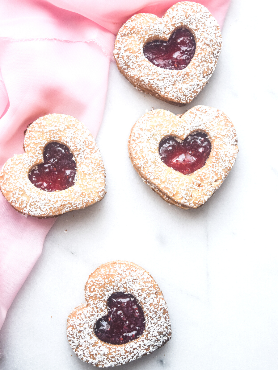 Mexican Wedding Cookies with Raspberry Jam or Chocolate Filling