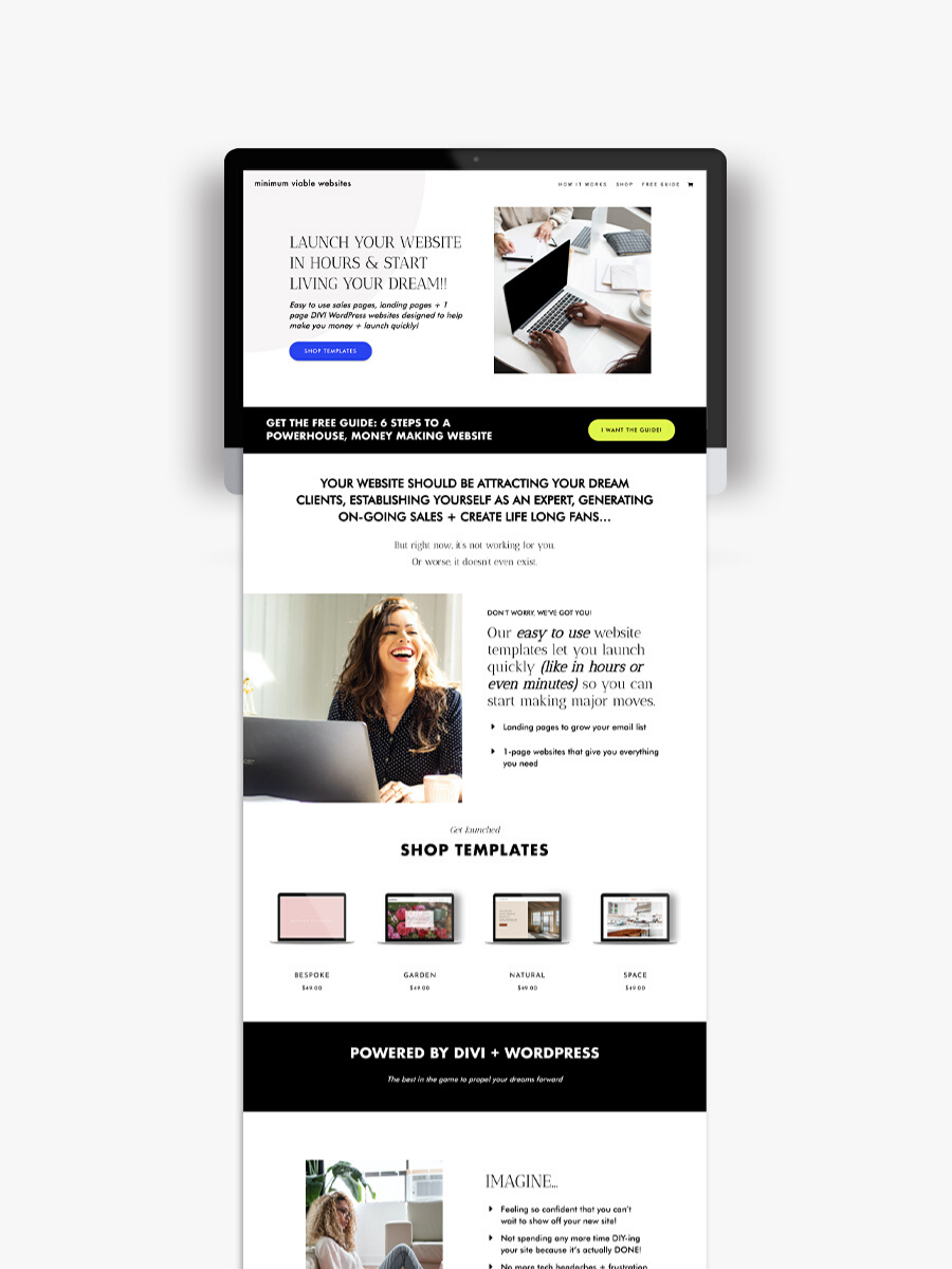 Minimum Viable Websites Web Design Refresh