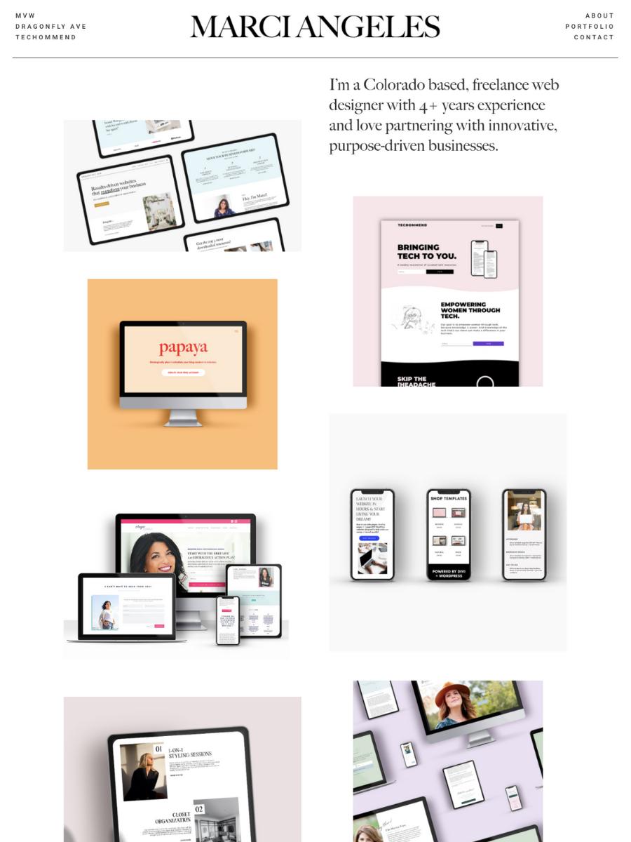 Marci Angeles Website Redesign