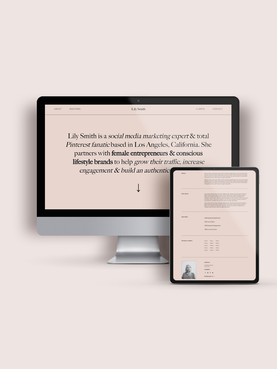 In the shop: Calla Website Template