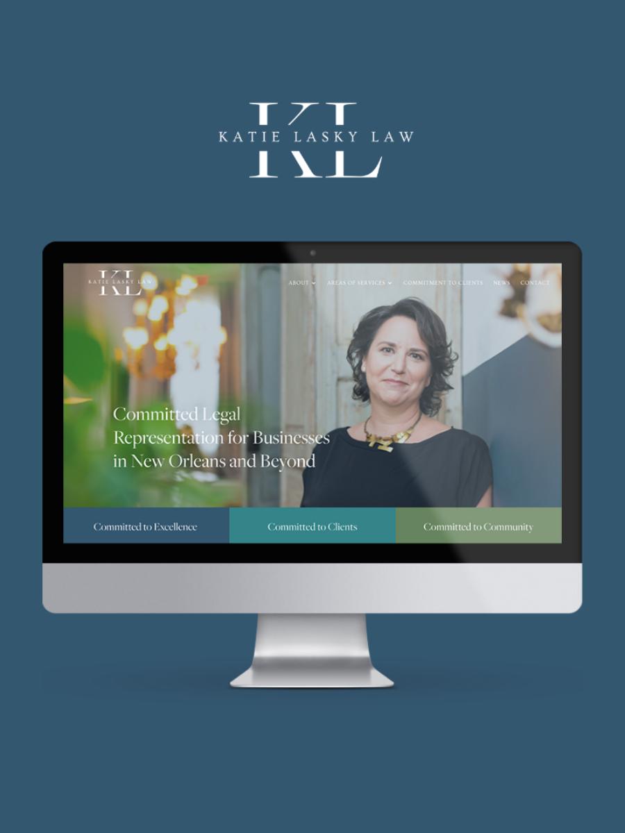 Katie Lasky Law Brand + Website Launch