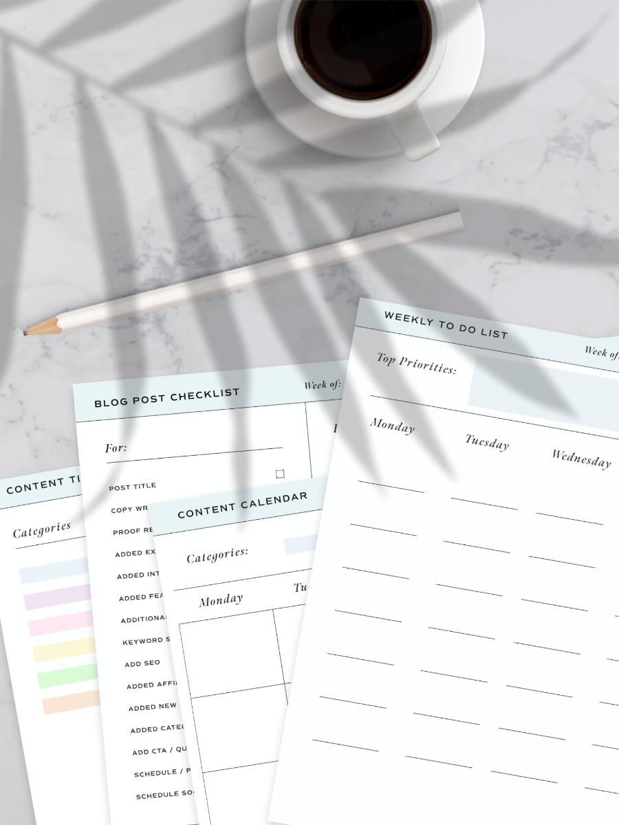 Content Calendar & Planner Bundle