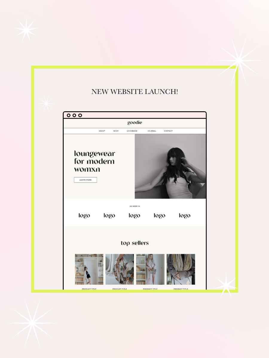 Free Instagram Website Launch Graphics