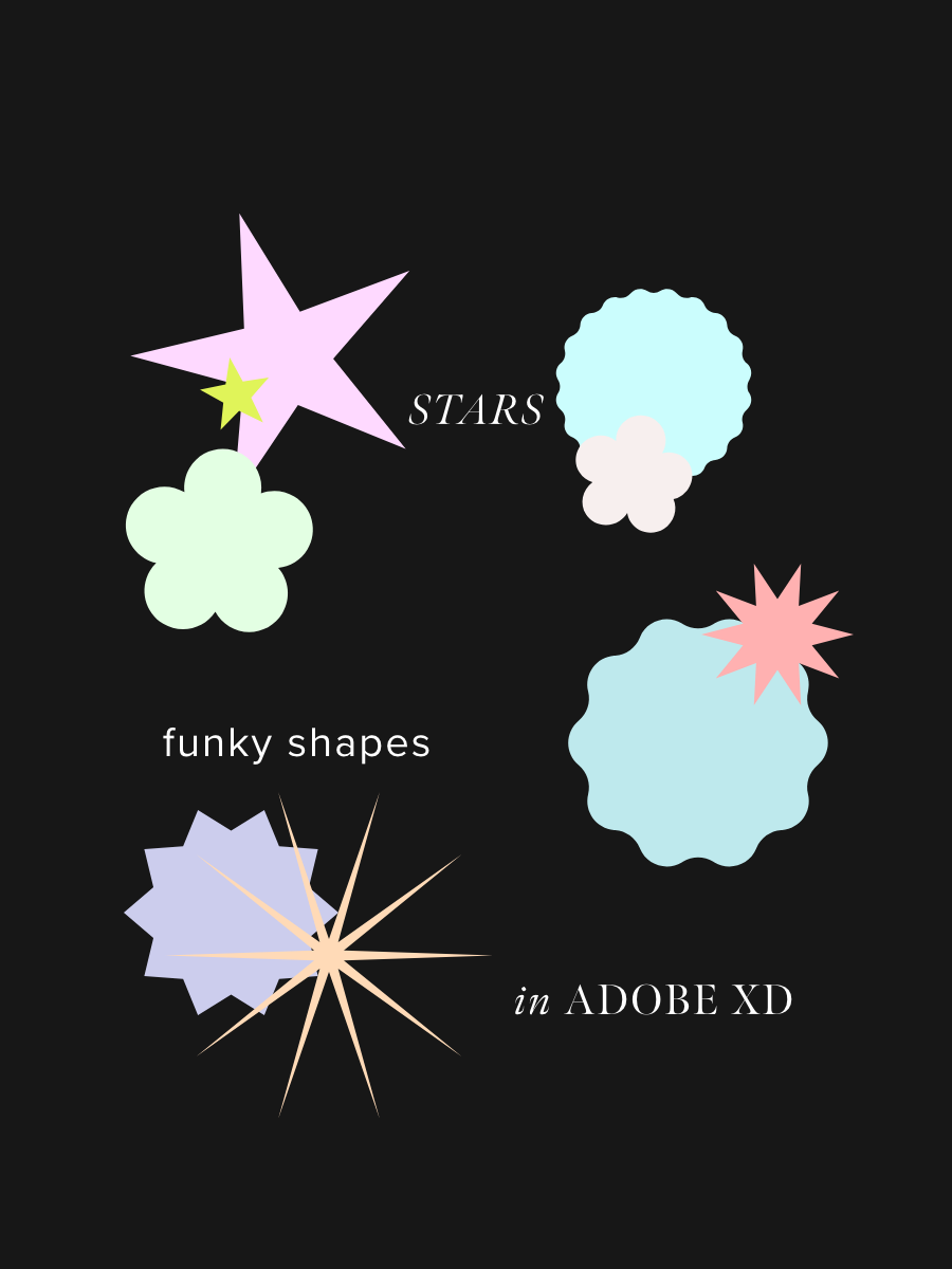 How To Make Stars, Flowers & Funky Shapes In Adobe XD