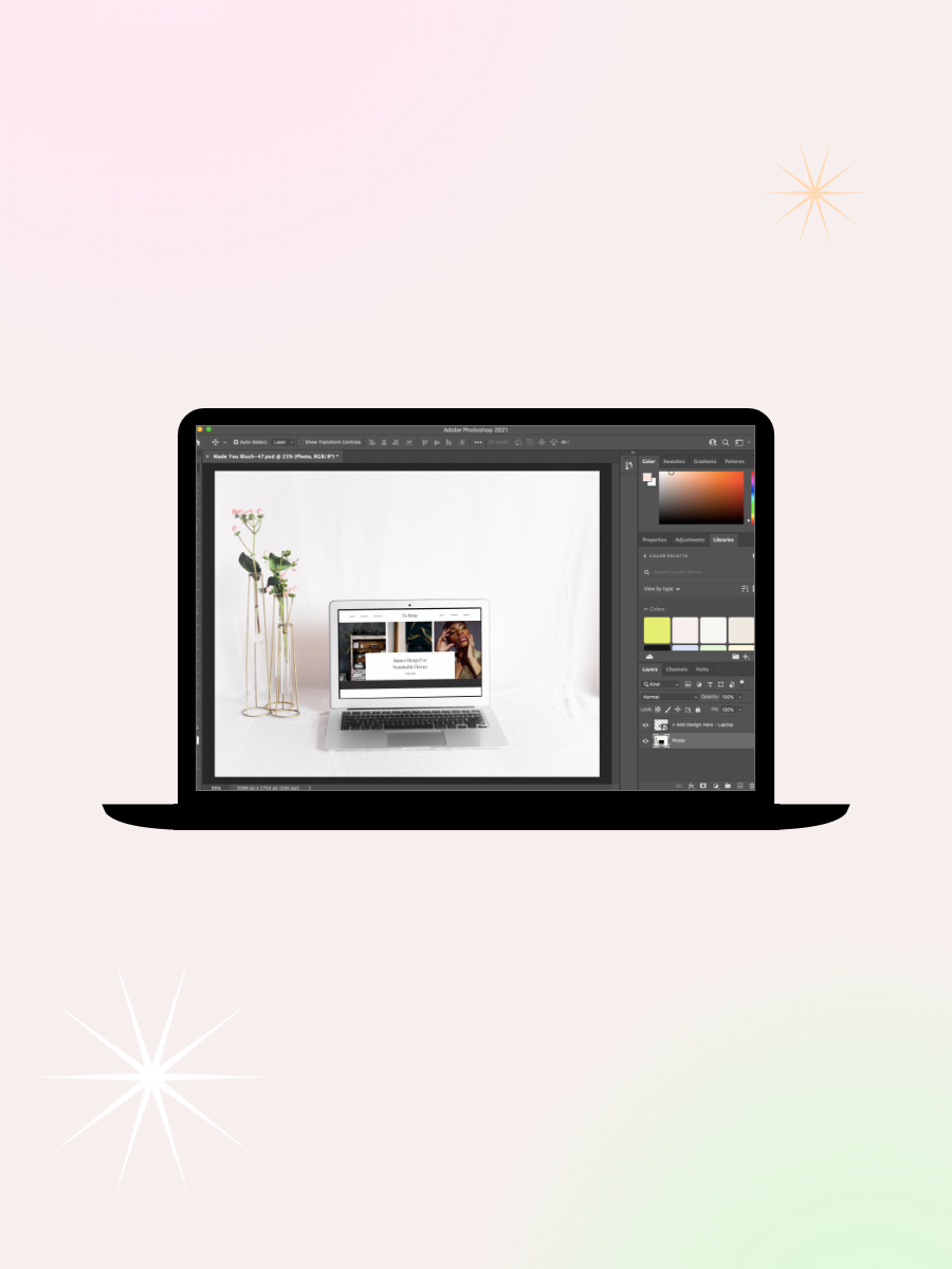 Add A Web Scrolling Animation Effect & Video To A Photo Or Mockup Using Photoshop