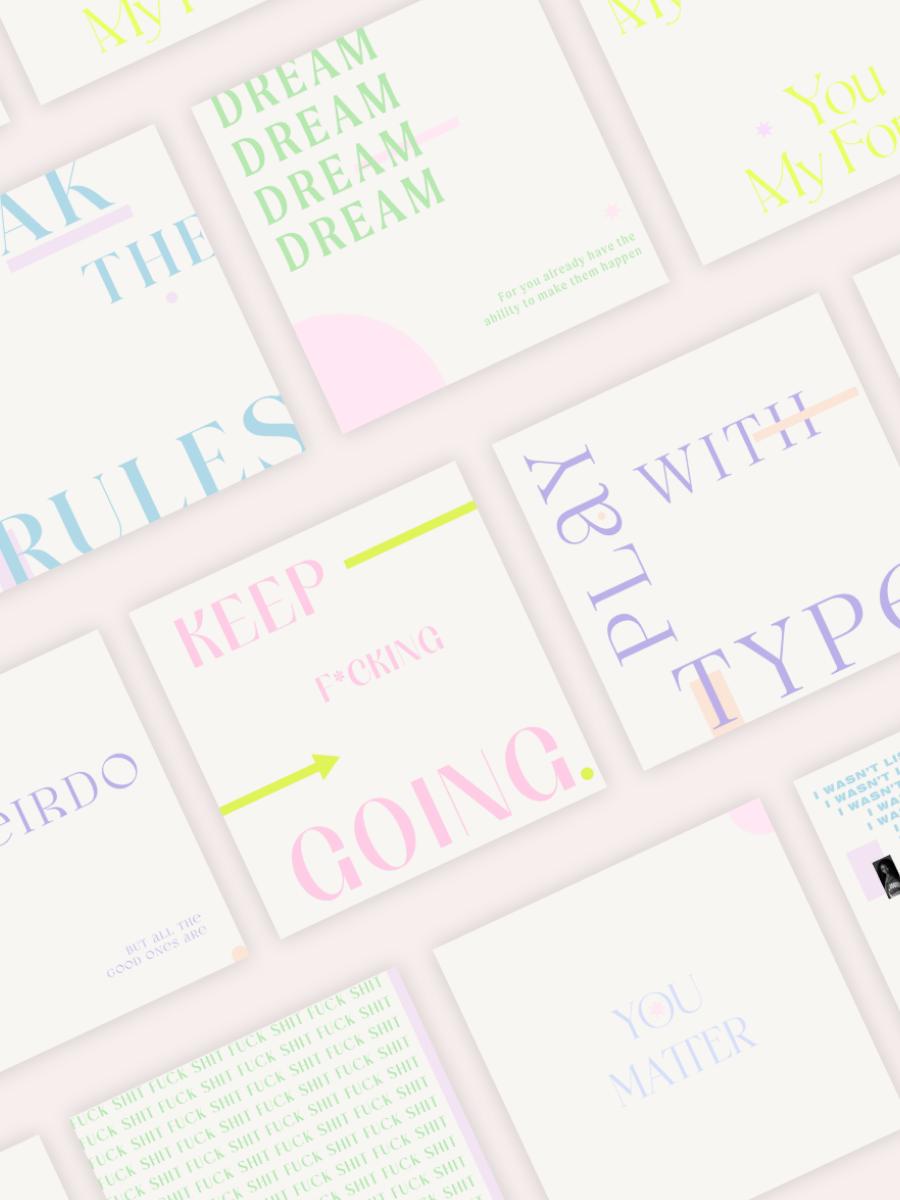 Free Instagram Quote Typography Graphics