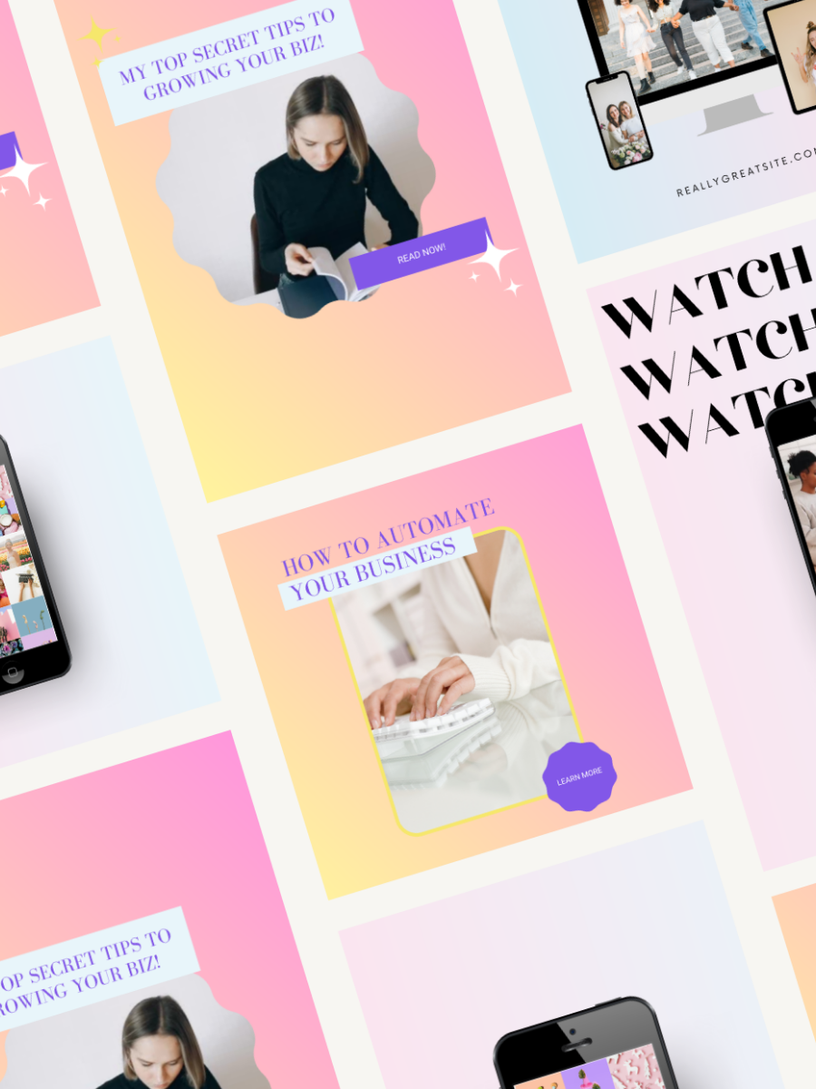 Free Gradient Canva Social Media Templates