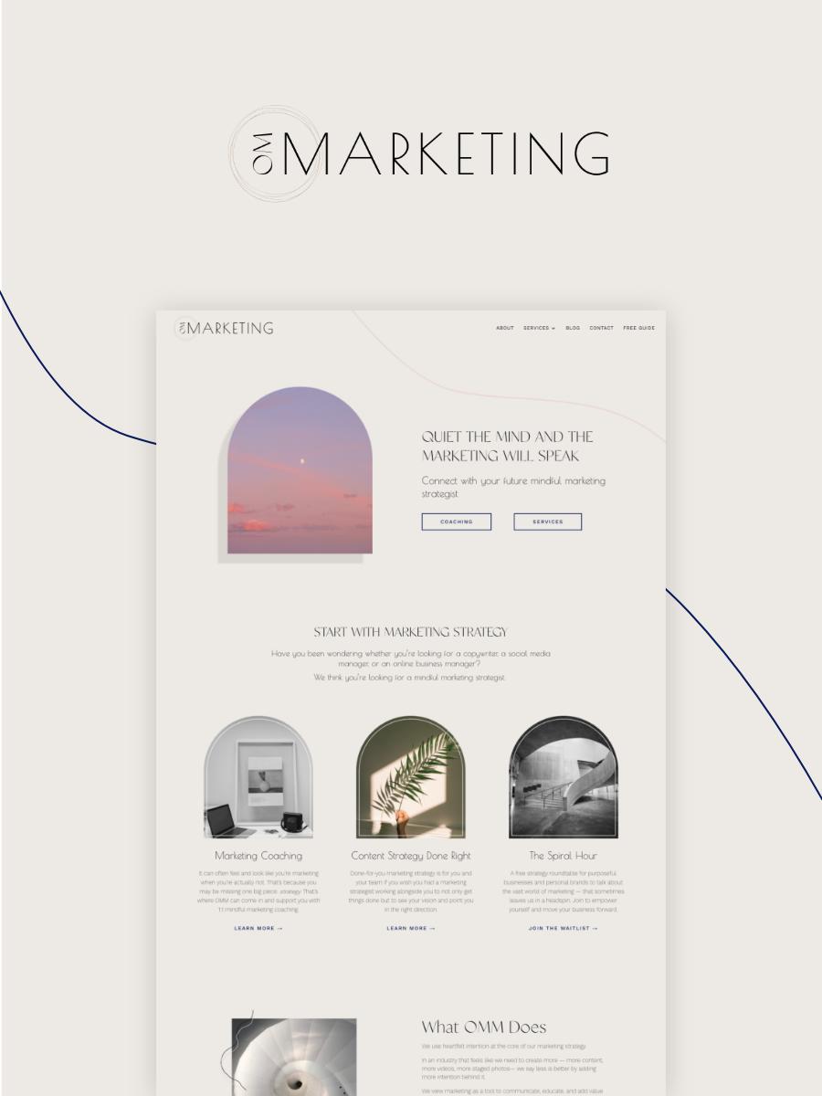 OM Marketing Website Launch